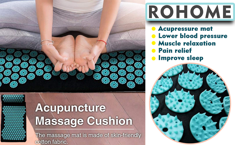 Rohome Acupressure Mat and Pillow Set