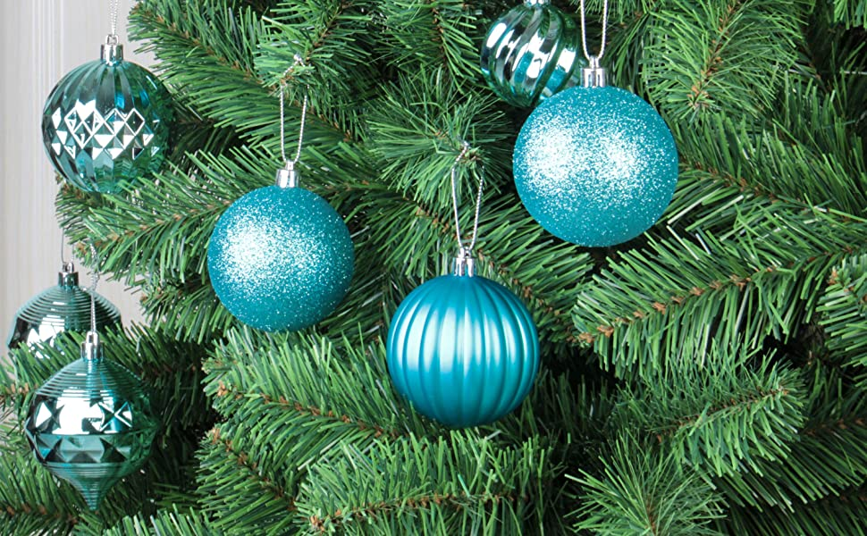 QinYing 41pcs 1.57 Christmas Balls Ornaments for Decorating Christmas Tree Shatterproof Christmas Tree Hanging Balls Decoration for Holiday Party Anniversary Baubles Set with Hang Rope Black 4cm