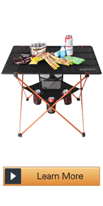 Portable Folding Camp Table Large Camping Table with 4 Cup Holders