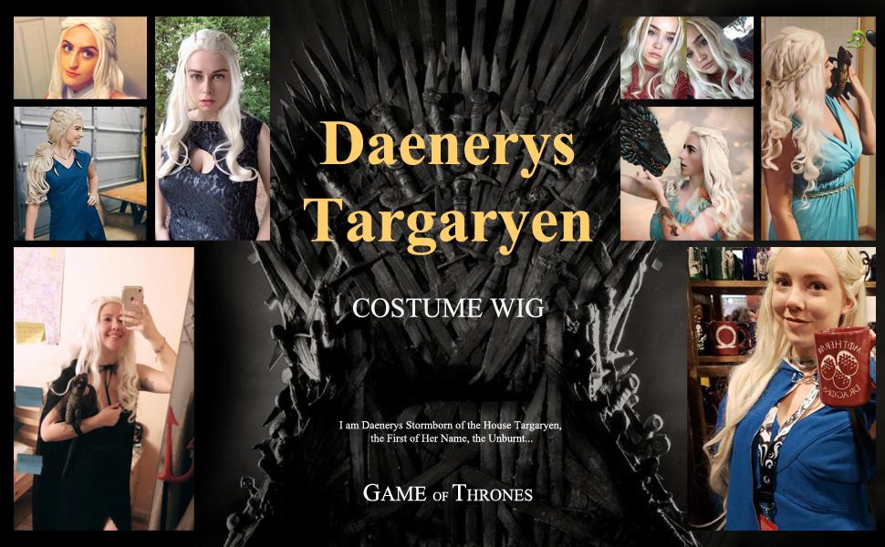 daenerys costume wig