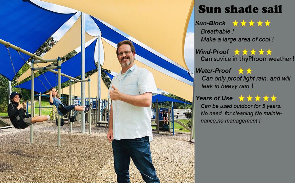 sun shade sail triangle 12