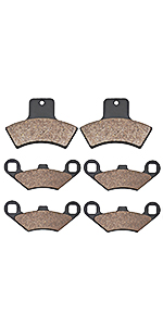 Cyleto Front and Rear Brake Pads for POLARIS 400 Scrambler 4 x 4 1998 1999 2000 2001 2002//500 Scrambler 4 x 4 1998 1999 2000 2001 2002 2003 2004