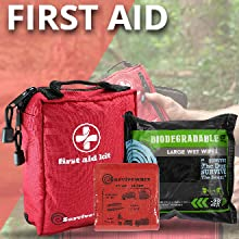 FIRST AID, WIPES, SPLINT,survival backpacks,survival bags backpack kit,hurricane kit for a family