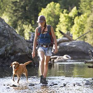 SKENARY Womens Dimo Hiking Boots Mid Waterproof Trekking Outdoor Boot