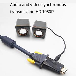 hdmi to vga converter adapter 1080p