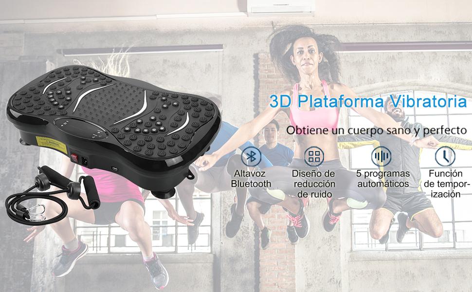 EVOLAND Plataforma Vibratoria, Máquina de Ejercicio Entrenamiento ...