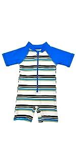 Aschlop Baby Boy One-piece Sunsuit Leopard Pattern UPF50+ Zipper