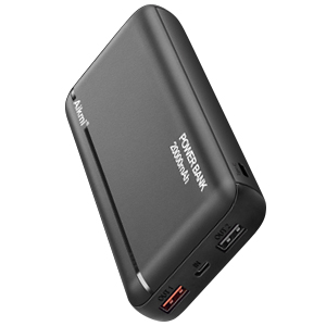 20000 mAh external battery banks. Available in black and white.