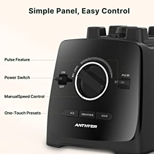 easy control with simple panel automatic speed control high power