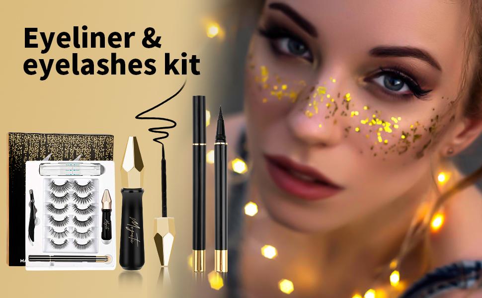 Invisible Magnetic Eyelashes with Eyeliner Kit Magnetic False Lashes EXTRA Lightweight