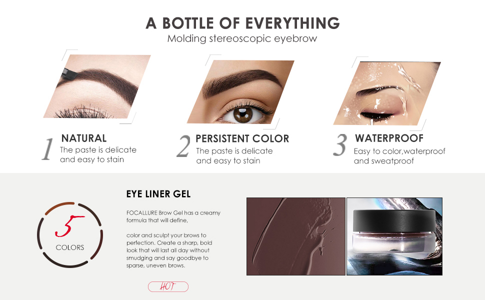/Lock On Brow And Eyeliner/Waterproof Long Lasting Liner Makeup/Lightweight Creamy/Defines Natural