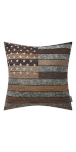 Trendin Wood USA Map Pillow Cover 18x18 inch