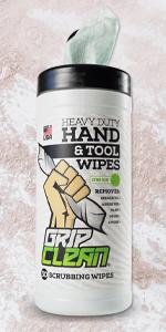 grip clean hand cleaner auto mechanic wipes tool industrial soap garage waterless garage degreaser