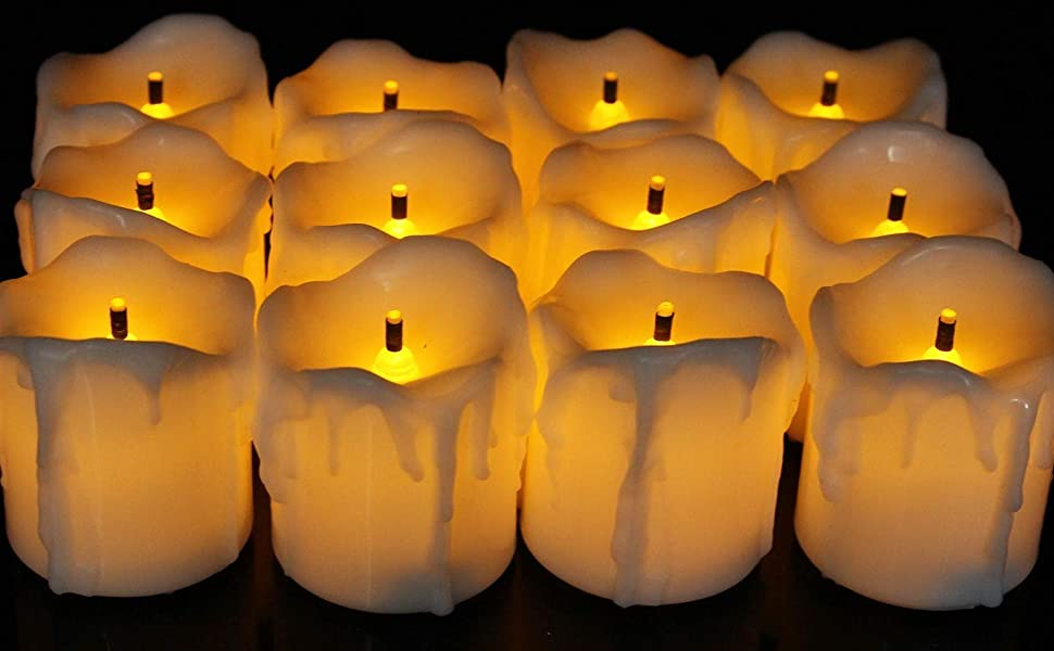 led tealight candles set of 12