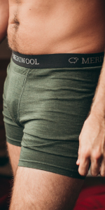 MERIWOOL Merino wool Mens Briefs have silky-smooth fit for maximum gentleness on your skin.