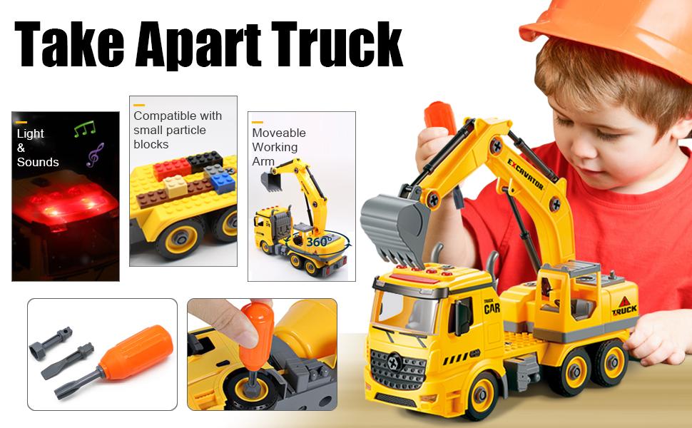 take apart truck toys
