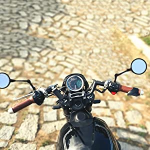 Round Clear Lens Rear View Mirrors for Mobility Scooter Motorcycle Push Bike 8mm