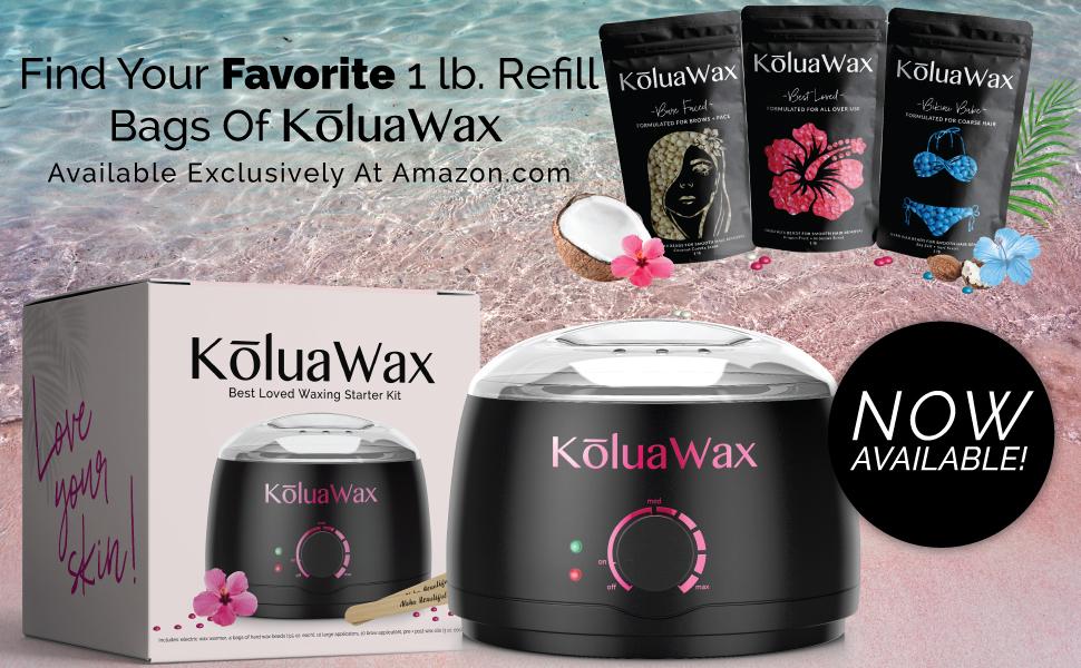 koluawax best loved wax warmer kit with refill wax beans