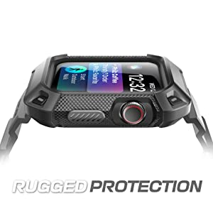 SUPCASE Rugged Protective Case with Strap Bands for Apple Watch Series 4 [Unicorn Beetle Pro] 44mm
