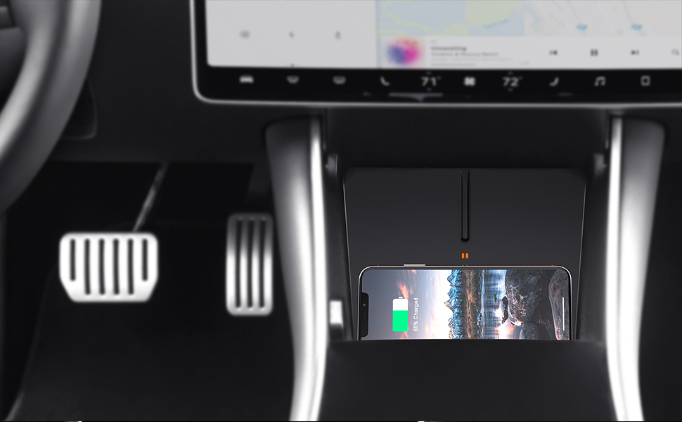 TAPTES No Cables, True Wireless Charging. Wireless Charger For Tesla Model 3 - No Software Issue