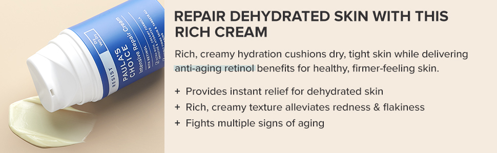 Anti-aging moisturizing retinol cream that smooths skin and provides hydration for a healthy glow.
