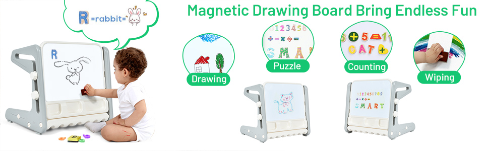 magnetic drawing board for drawing, art, craft, puzzle, easy wiping