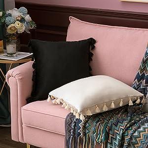 standard size zippered zipper black soft comfortable cozy comfy durable