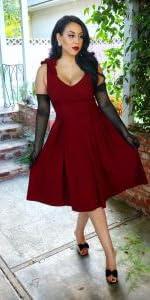 Bowknot Swing Dress