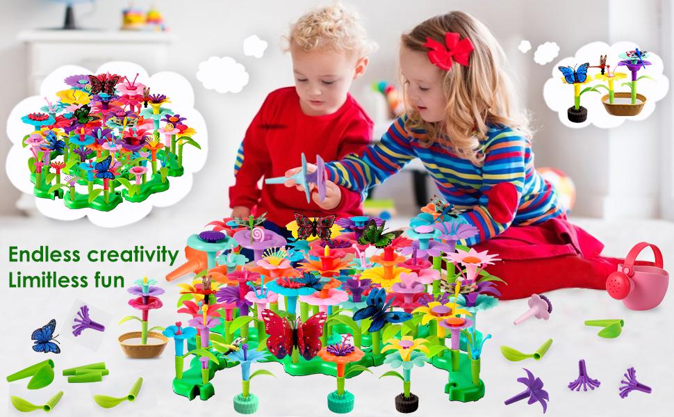 Flower garden building toy