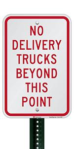 No Delivery Trucks