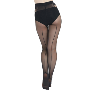 nylons with line in back seam