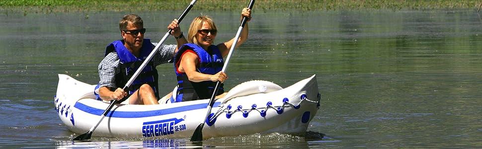 Inflatable Kayak, Tandem Kayak, Solo Kayak, Sea Eagle, Sport Kayak, 330, Kayak