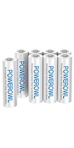 単4形充電式ニッケル水素電池8個