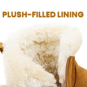plush filled lining warm