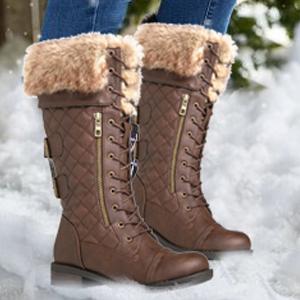 procedimiento leninismo Armstrong  Amazon.com: Globalwin. - Botas de combate hasta la rodilla para mujer.:  Shoes