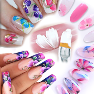 flower nail art brush