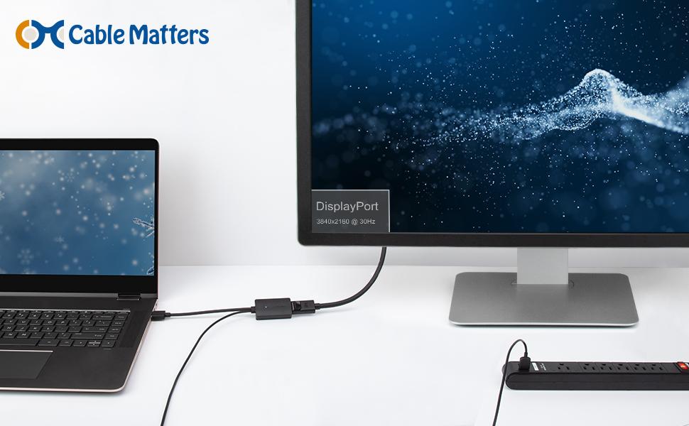 Cable Matters Adaptador Display Port to HDMI (Adaptador HDMI to Display Port) con Soporte de resolución de Video 4K: Amazon.es: Electrónica