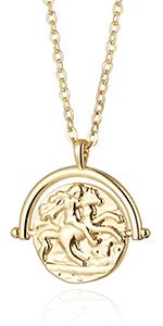 horse rider pendant necklace