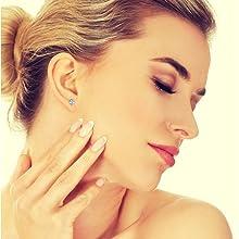 silicone sliders, hypoallergenic, stud earrings for women