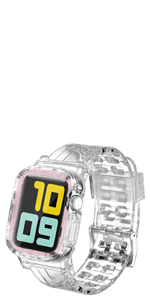 Crystal rugged band for apple watch