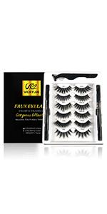 5D False Eyelashes 6Paris Pack