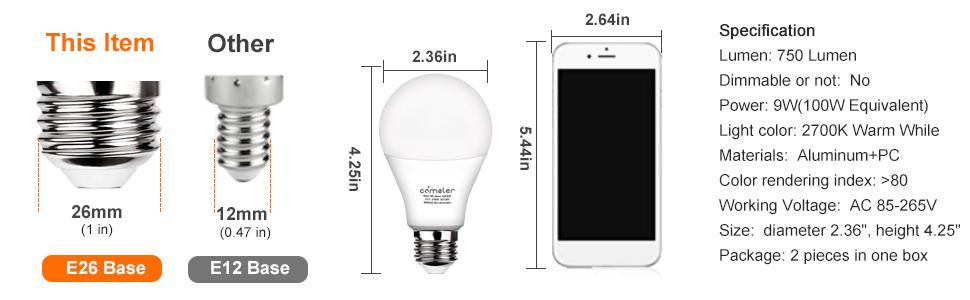 led light bulbs 150 watt equivalent
