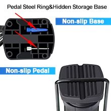 Hidden storage base for carrying needle easily. Non-slip Pedals a good slip resistance