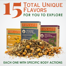 15 unique flavors of herbal tea