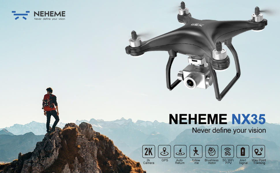 NEHEME NX35 2K GPS Drone pour adultes