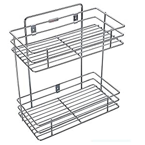 Stainless Steel Double Layer Mounted Kitchen Rack