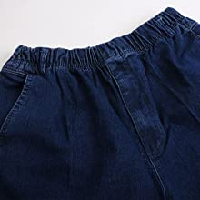 mens full elastic waist pants