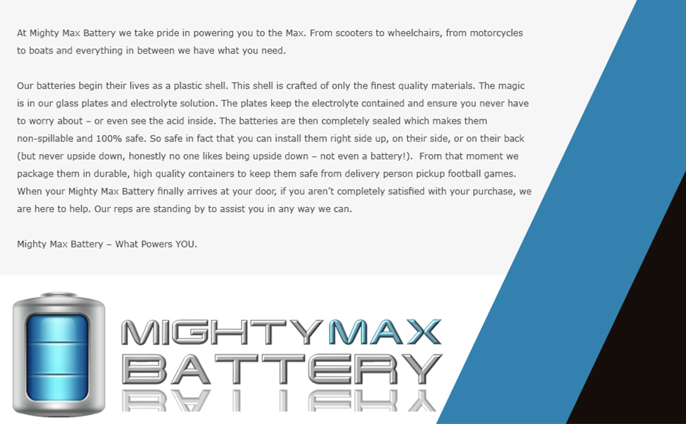replacement battery rechargeable battery maintenance free battery mighty max battery