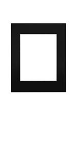 16x20 black single pre cut white core mat matting for photo prints