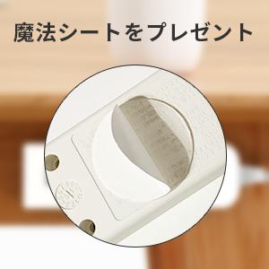 電源タップをしっかり壁あるいはデスクに貼る